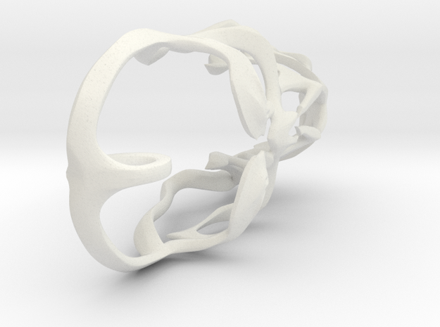 Skull Pendant 02 in White Natural Versatile Plastic