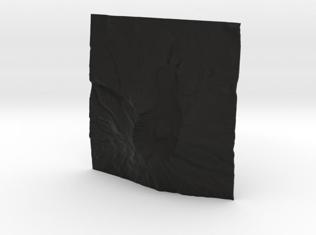 3'' Mt. St. Helens Terrain Model, Washington, USA 3d printed