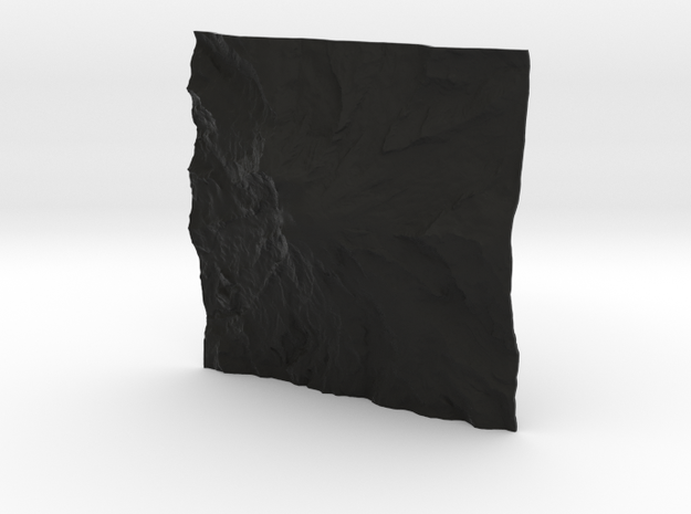 3'' Mt. Rainier Terrain Model, Washington, USA 3d printed