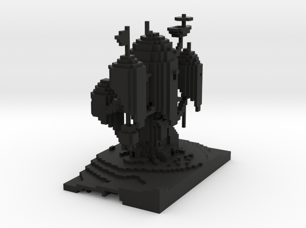 Adventure Time Minecraft Tree House 3d printed