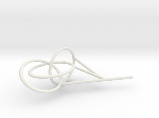 Three Link Knot bubble surface 3d printed
