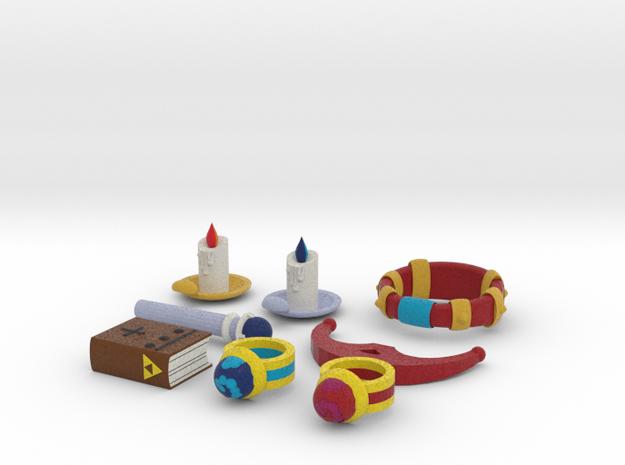 Zelda Fan Art: TLoZ: Quarter Set (3/4) in Full Color Sandstone