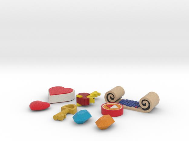 Zelda Fan Art: TLoZ: Quarter Set (2/4)   in Full Color Sandstone