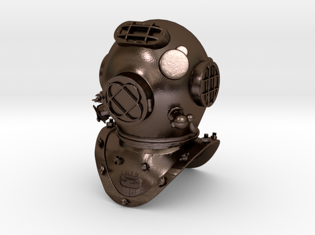 Old Diving Helmet Miniture 3d printed