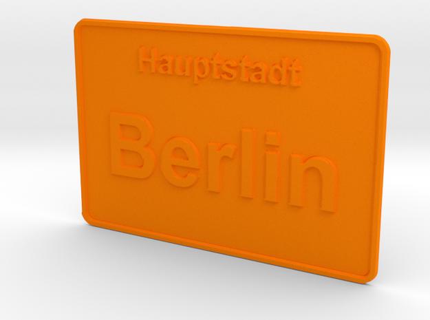 Hauptstadt Berlin in Orange Processed Versatile Plastic
