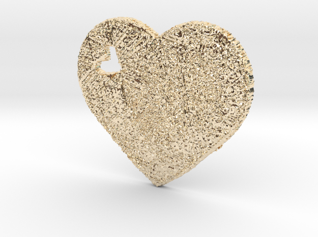 Love Heart 3D in 14K Yellow Gold