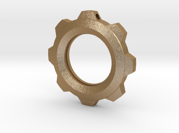 Steampunk Gear Pendant (No Text) 3d printed
