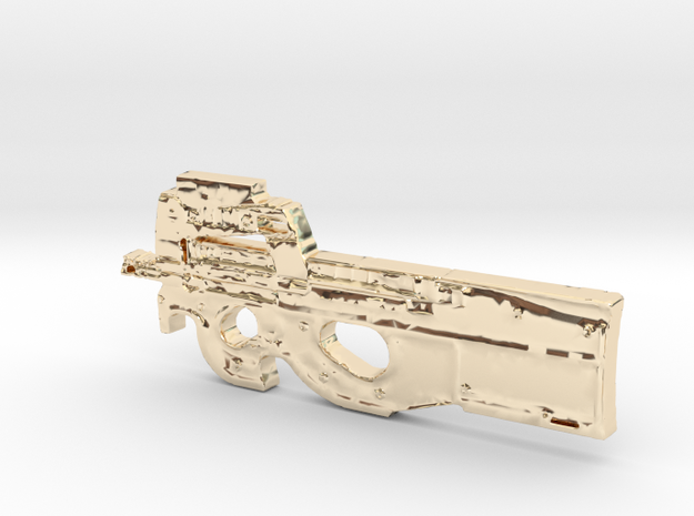 FN P90 in 14K Yellow Gold
