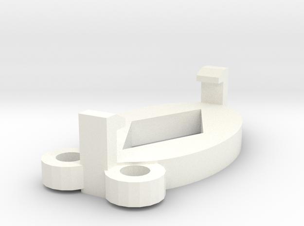 amuletclip in White Strong & Flexible Polished