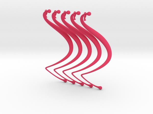 Dewy Rings (Set of Four) 3d printed