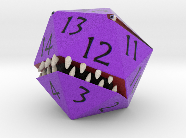 D20 Purple Monster Figurine