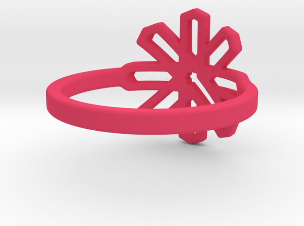 Pomegranate Blossom- Multiple Sizes  3d printed