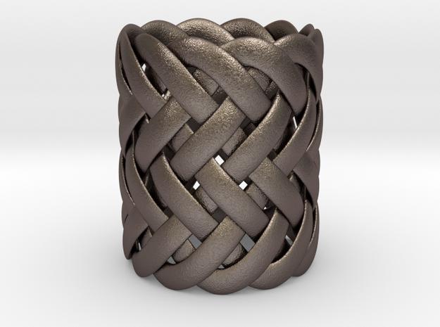 Joyce's Ring in Polished Bronzed Silver Steel