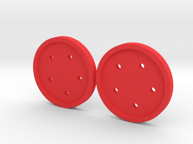 """1"""" five-holed buttons (two) 3d printed"""