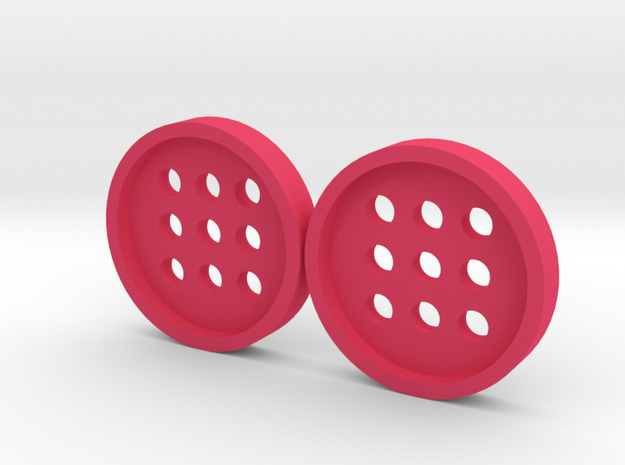 """5/8"""" alphabet buttons (two) 3d printed"""