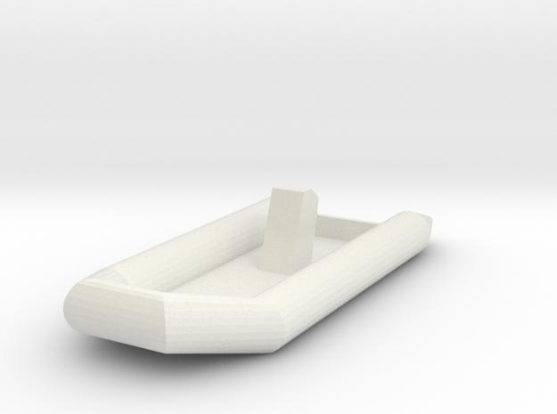Zodiac Boat 1:100 (type 2) in White Strong & Flexible