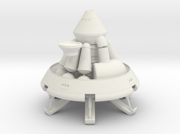 1/72 MARS EXCURSION MODULE W/ ASCENT STAGE in White Natural Versatile Plastic