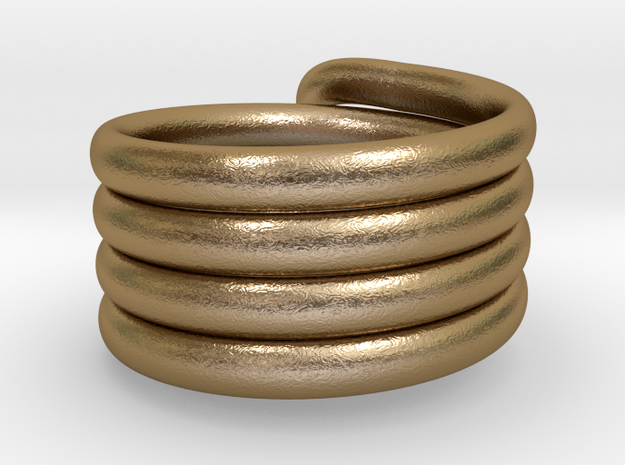 Continuous Coiled Ring-Size 10 3d printed