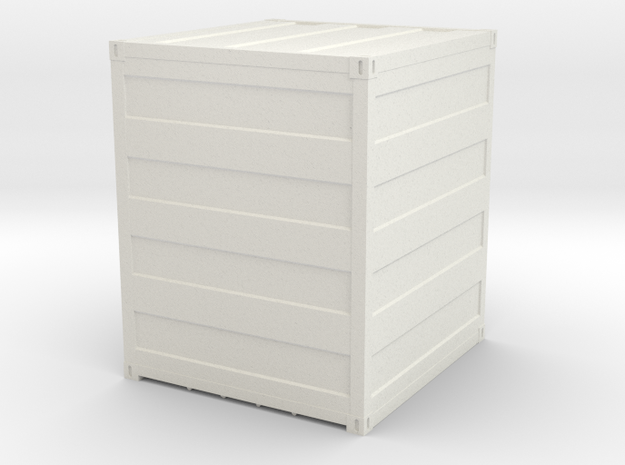 Container 10 ft, scale 1:87 in White Natural Versatile Plastic