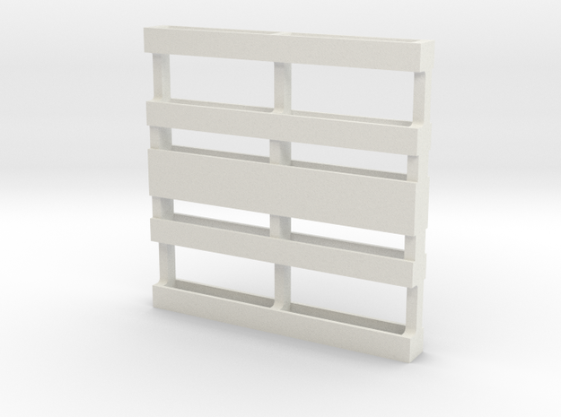 Pallet in White Natural Versatile Plastic