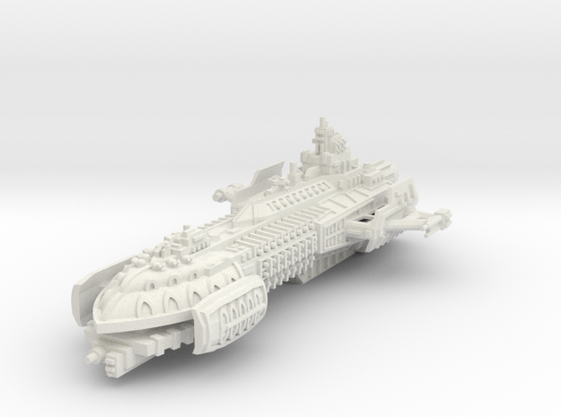 BFG Heresy Barge in White Strong & Flexible