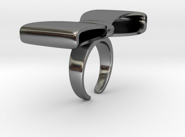 BigRibbonRing US-Ring-size6.5(JP-size-#12) in Fine Detail Polished Silver