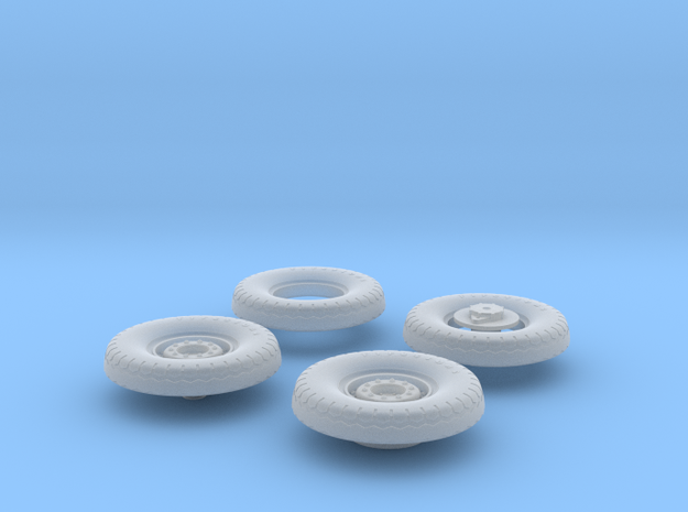 1:35 18 24 240mmgun Wheels Frontrear in Smooth Fine Detail Plastic