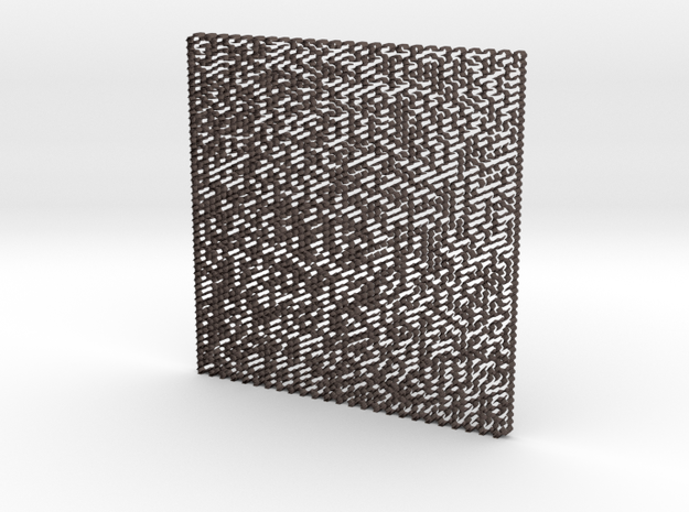 Maze 3D in Polished Bronzed Silver Steel