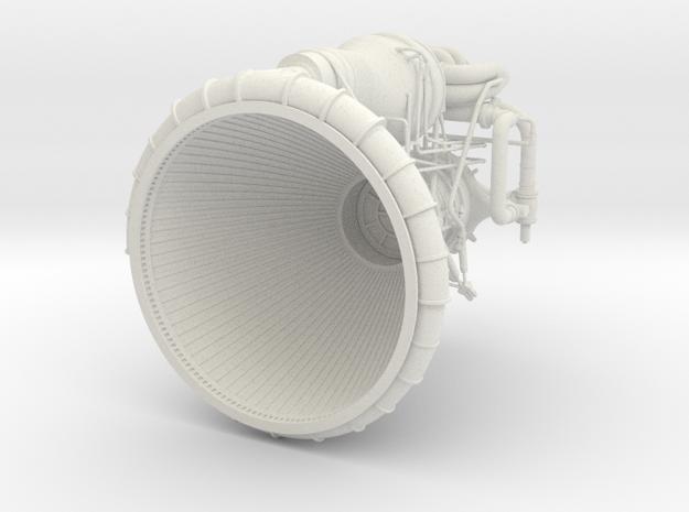 F1 3D Engine 1:20 Top in White Natural Versatile Plastic