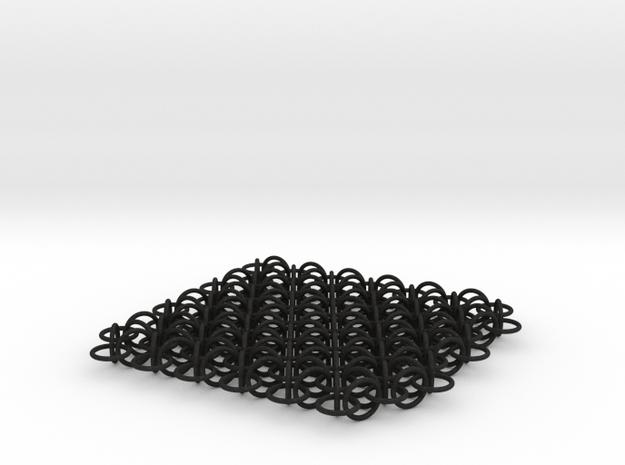 2D Chain Mail, 2cm deep version 3d printed