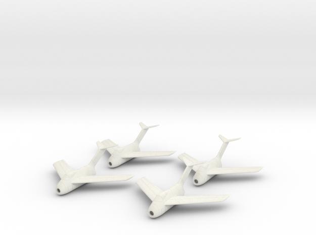 1/100 Focke-Wulf Ta-183 (x4) in White Strong & Flexible