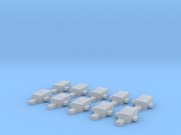 TT 1:120 Weichenantriebsattrappe (10 Stk) in Smooth Fine Detail Plastic