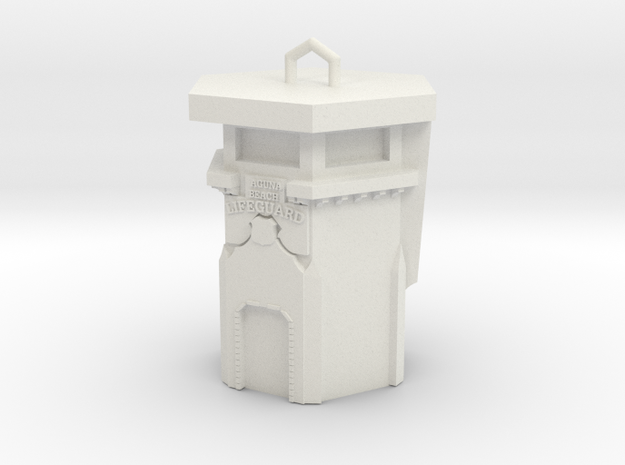 Laguna Beach Lifeguard Tower Jewerly Charm  3d printed