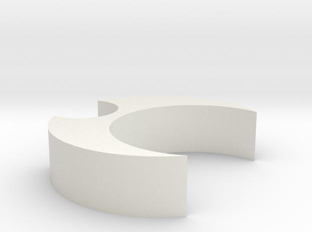 Mic Clip 22 10 in White Natural Versatile Plastic