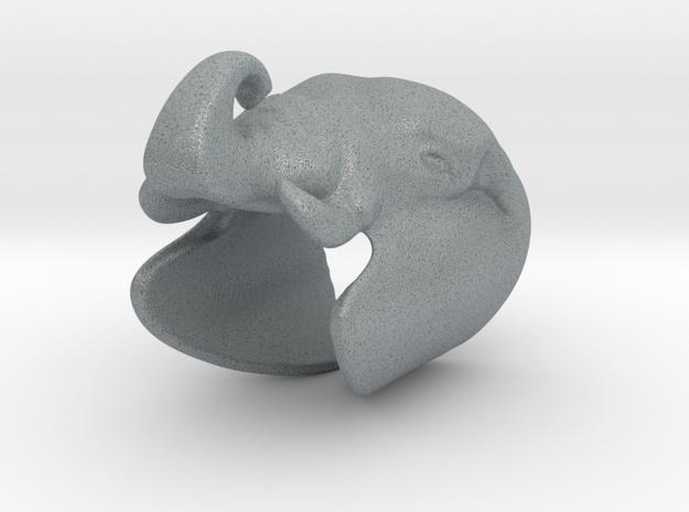 Elephant Gripper 22mm in Polished Metallic Plastic