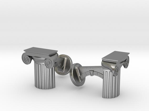Ionic Cufflinks 3d printed