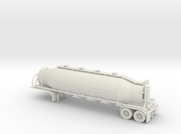 HO 1/87 Dry Bulk Trailer 03 with cyclone 3d printed