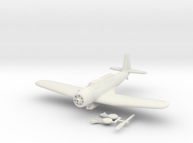 1/100 Vought SB2U Vindicator (extended wings) in White Strong & Flexible