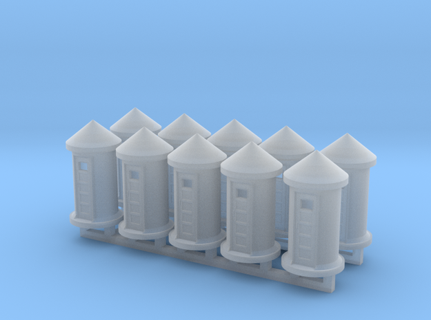 Concrete Phone Booth - Zscale in Smooth Fine Detail Plastic