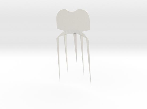 Face2comb in White Natural Versatile Plastic