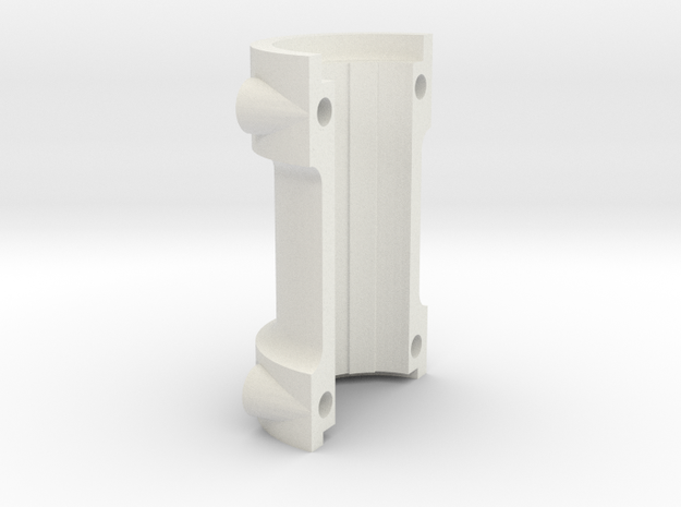 Climax F417 Split Axle Spacer - 1-8th Scale in White Natural Versatile Plastic