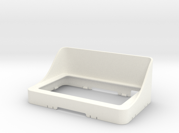 Garmin Zumo 660 sunshield Click'n'Go in White Strong & Flexible Polished