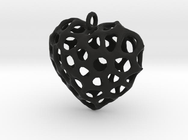 Voronoi Heart Piece Neckles 3d printed