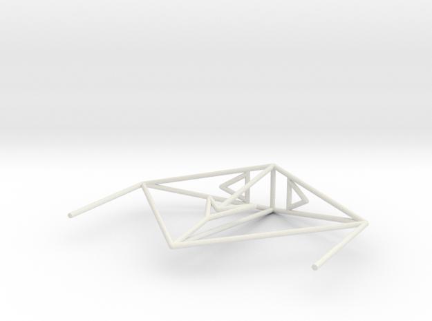 Krait Wireframe 1-300 in White Natural Versatile Plastic