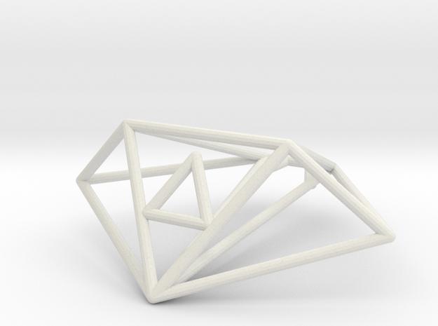 Moray Wireframe 1-300 in White Natural Versatile Plastic