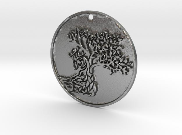 Deer Tree in Natural Silver
