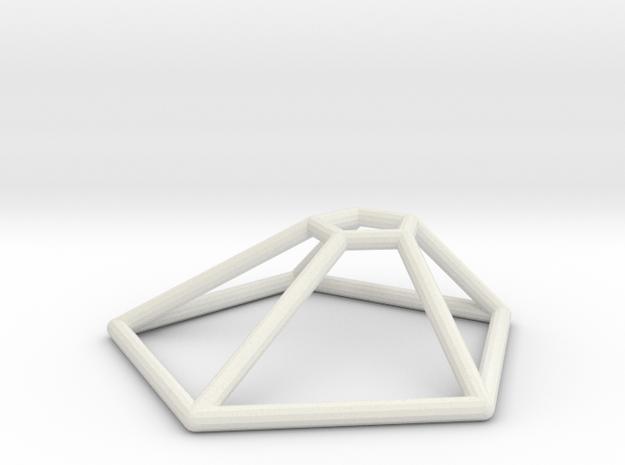 Thargon Wireframe 1-300 in White Natural Versatile Plastic