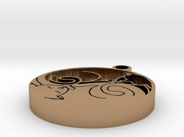 Cat Yin Yang Pendant 3d printed
