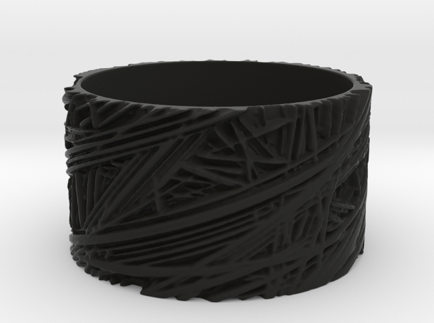 Fibres Ring Size 9 3d printed