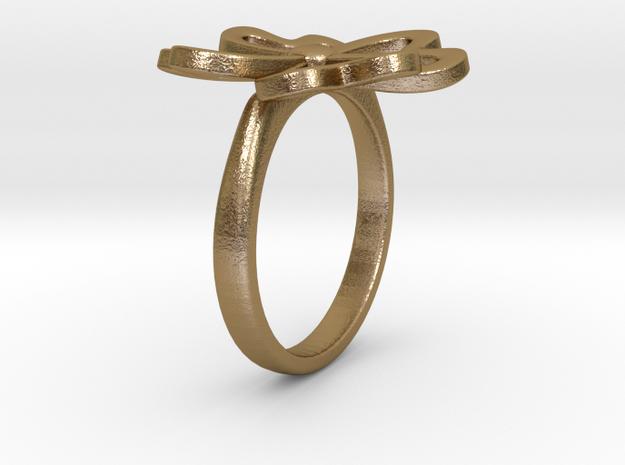 4-Heartleaf-clover-Ring US-SIZE6.5 (JP-SIZE#12) 3d printed